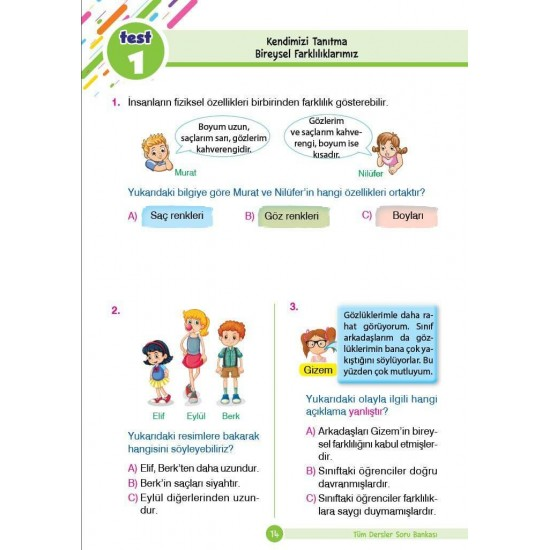 Dikkat Atölyesi 2. Sınıf Tüm Dersler Yeni Nesil Soru Bankası